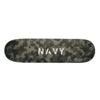 Navy Camouflage Skateboard