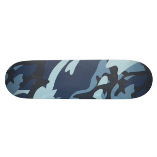 Navy Camouflage Custom Skateboard