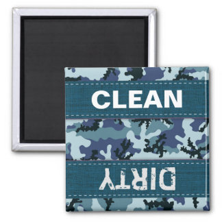Navy camouflage square magnet