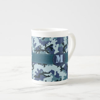 Navy camouflage tea cup