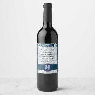 Navy camouflage wine label