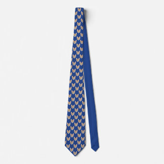 Navy, Cat Pattern. Tie