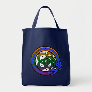 Navy Celtic Dragon Circle Tote