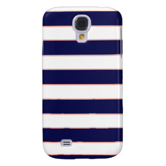 navy coral stripes