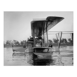 Navy Curtiss NC-4 Flying Boat, 1918 Poster