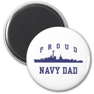 Navy Dad 2 Inch Round Magnet