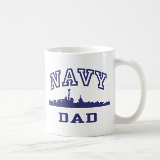 Navy Dad Classic White Coffee Mug