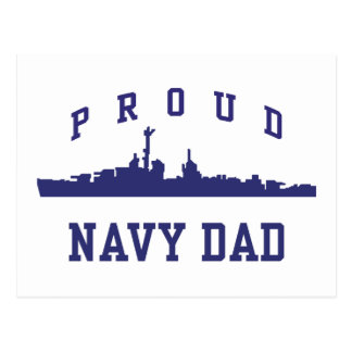 Navy Dad Postcard
