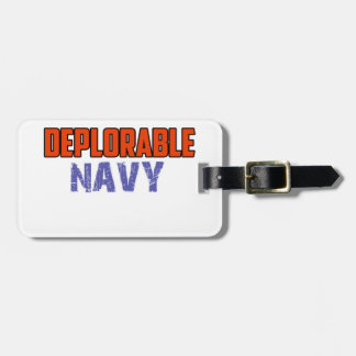 NAVY DESIGN LUGGAGE TAG