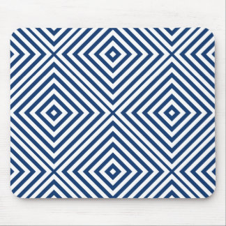 Navy Diamond Chevron Mouse Pad