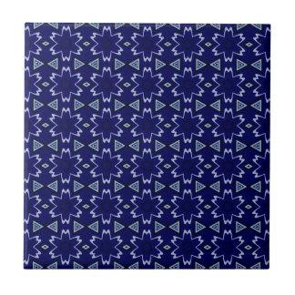 Navy Digital Floral Tile