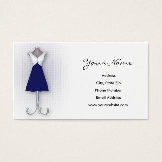 Navy Dress Business Cards