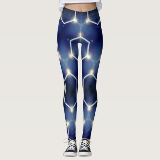 Navy Electric Leggings