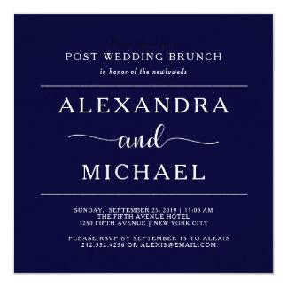 Navy Elegance | Minimalist Post Wedding Brunch Card