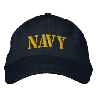 NAVY EMBROIDERED HAT