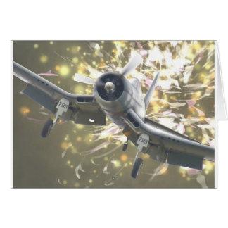 NAVY F4-U4 CORSAIR GREETING CARD