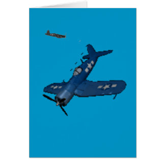 NAVY f4u corsair diving Card