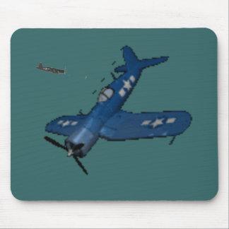 NAVY f4u corsair diving Mouse Pad