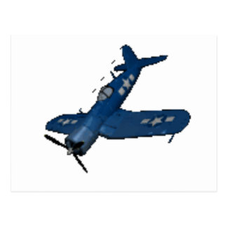 NAVY f4u corsair diving Postcard