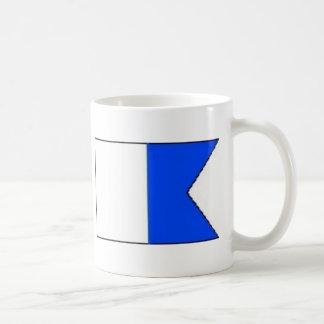 navy flag alpha design mugs