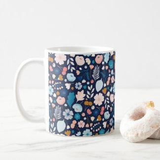 Navy Floral Mug