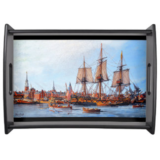 Navy Frigate Ship Alfred Ocean Harbor Serving Tray