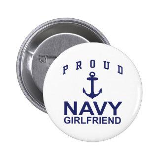 Navy Girlfriend 2 Inch Round Button