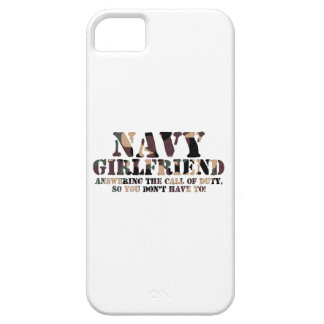 Navy Girlfriend Answering Call iPhone 5 Cases