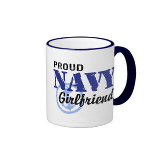 Navy Girlfriend Coffee Mugs