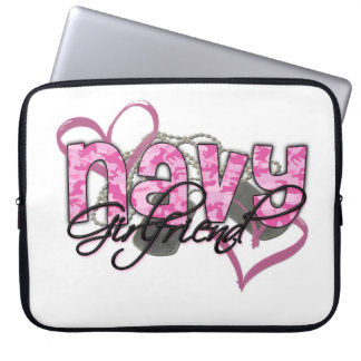 Navy Girlfriend Laptop Computer Sleeve