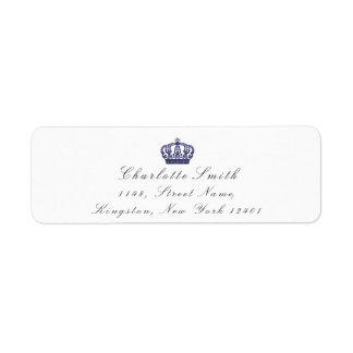 Navy Glitter RSVP Crown Princess Bridal White