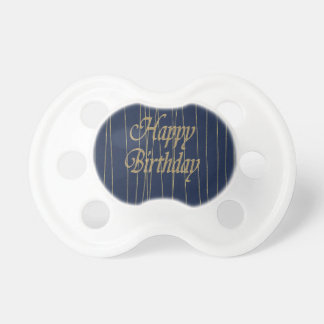 Navy Gold  Happy Birthday Pacifier