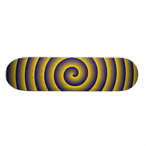 Navy & Gold Hypnotic Skateboard Deck