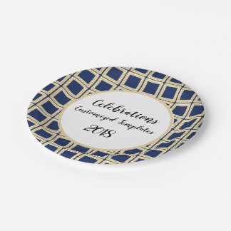Navy-Gold-II--Celebration-Templates-Customize Paper Plate