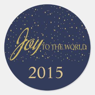 Navy & Gold Joy Holiday Sticker
