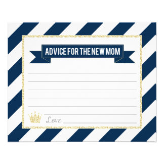Navy Gold Prince Advice for the New Mom Flyer