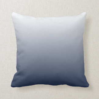 Navy Gradient Ombre Throw Pillow