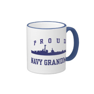 Navy Grandma Ringer Coffee Mug