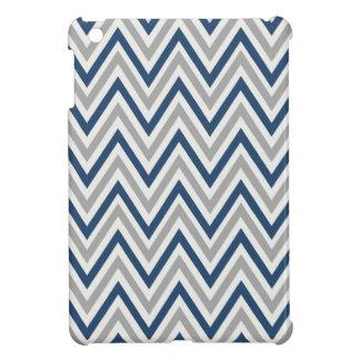 Navy & Gray Chevron Design iPad Mini Case