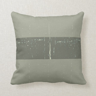 navy green distressed striped pillow