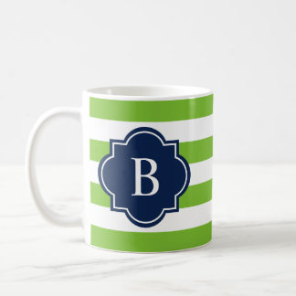 Navy & Green Rugby Stripe | Mug