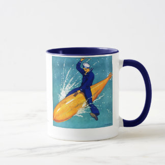 Navy Guy on Torpedo Mug
