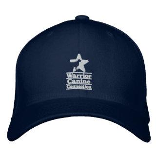 Navy hat, white logo embroidered hat