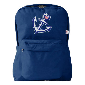Navy Heart Anchor American Apparel™ Backpack