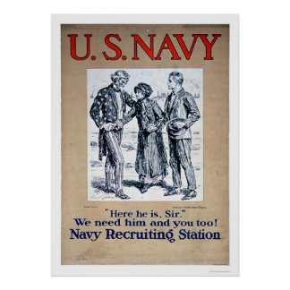 Navy - Here he is Sir (US02306) Poster
