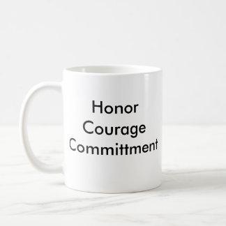 NAVY, HonorCourageCommittment Classic White Coffee Mug
