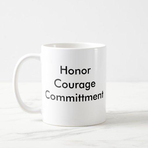NAVY, HonorCourageCommittment Coffee Mugs