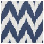 Navy Ikat Chevron Pattern Fabric