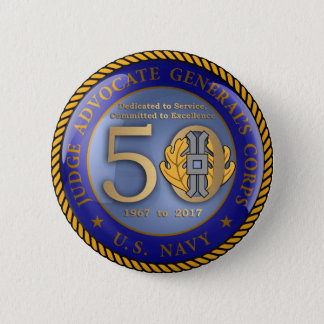 Navy JAG Corps 50th 2 Inch Round Button