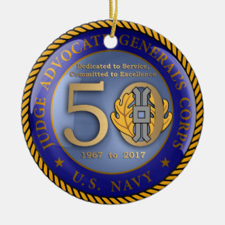 Navy JAG Corps 50th Ceramic Ornament